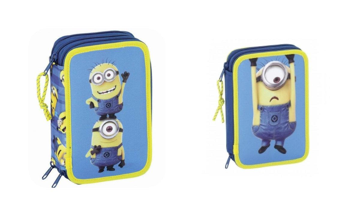 Minions penalhus, penalhus med minions, minions skoletaske, klar til skolestart