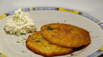kartoffelpandekager, kartoffel pandekager, kartoffel frikadeller, müvcer, inspiration til madpakken, vegetarretter, vegetarmad