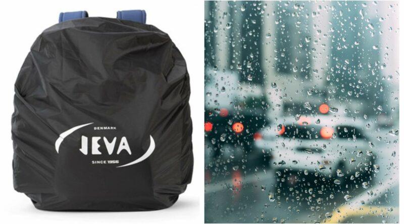 jeva regnslag til skoletaske, regnslag til rygsæk, sort regnslag til skoletaske