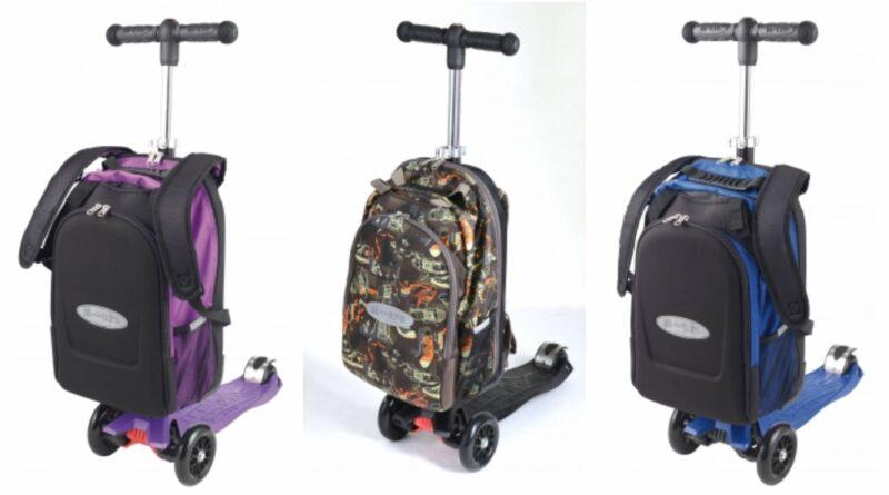 løbehjul med skoletaske, løbehjul med rygsæk, skoletaske med hjul, rygsæk med hjul, skoletaske med løbehjul, rygsæk med løbehjul, klar til skolestart