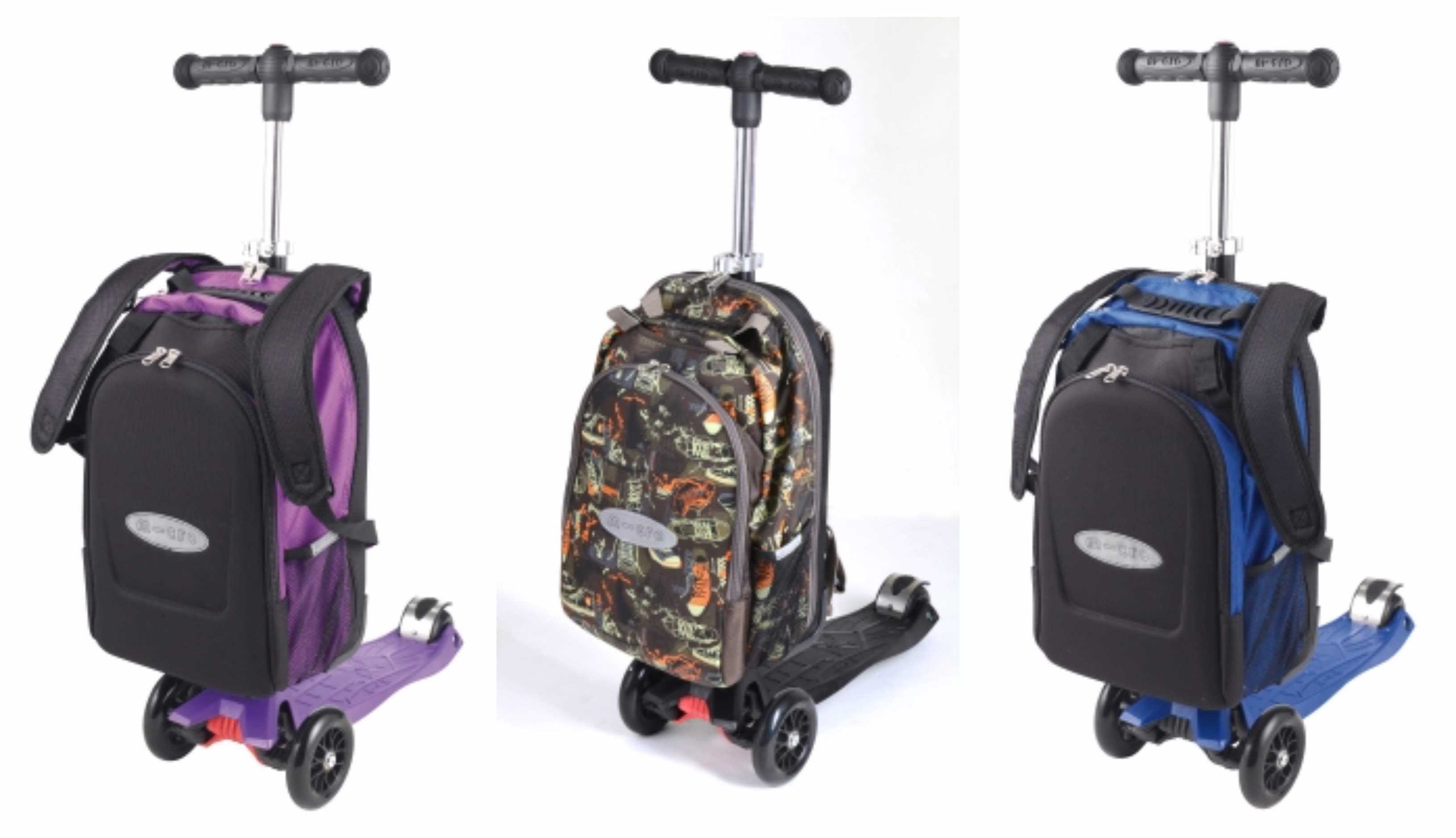 Løbehjul med skoletaske