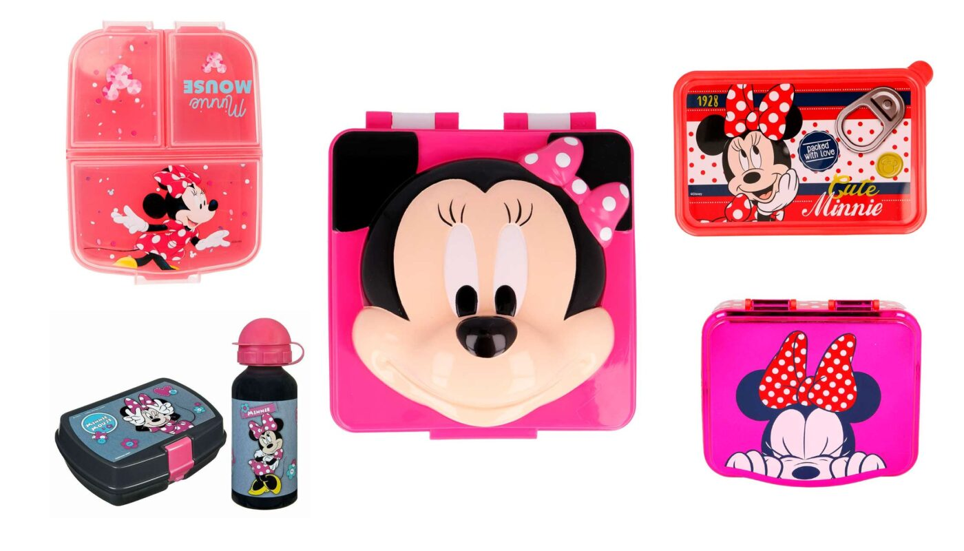 Minnie mouse madkasser, disney madkasser, disney minnie mouse mad kasser, madkasser til piger, madkasse med Minnie Mouse motiv