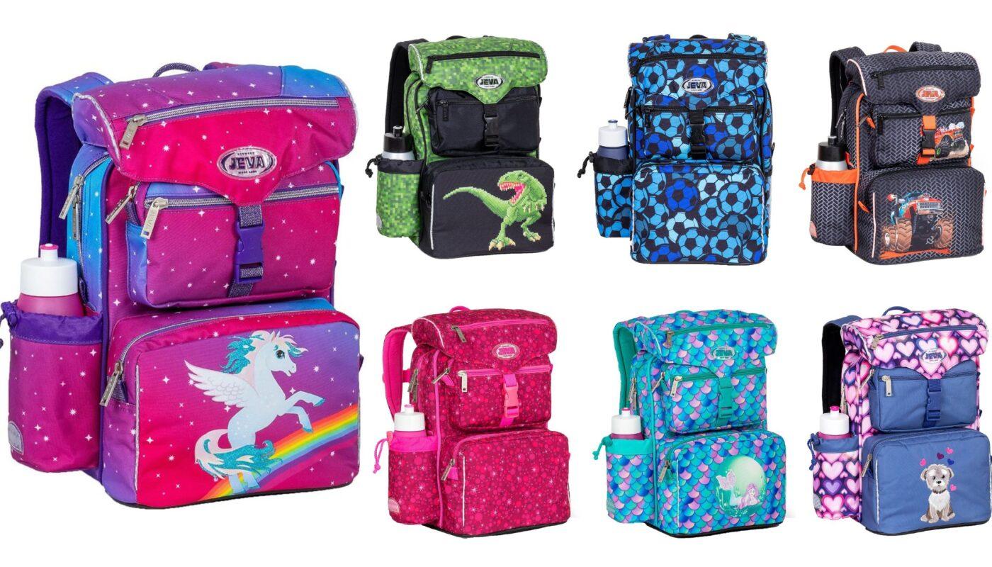 jeva beginners 2021 skoletaske 0 kl skoletaske med foamryg, jeva beginners skoletasker 2021. jeva begynder skoletaske til piger 2021, jeva begynder skoletaske til drenge 2021, unicorn skoletaske til skolestart, fodbold skoletaske til skolestart