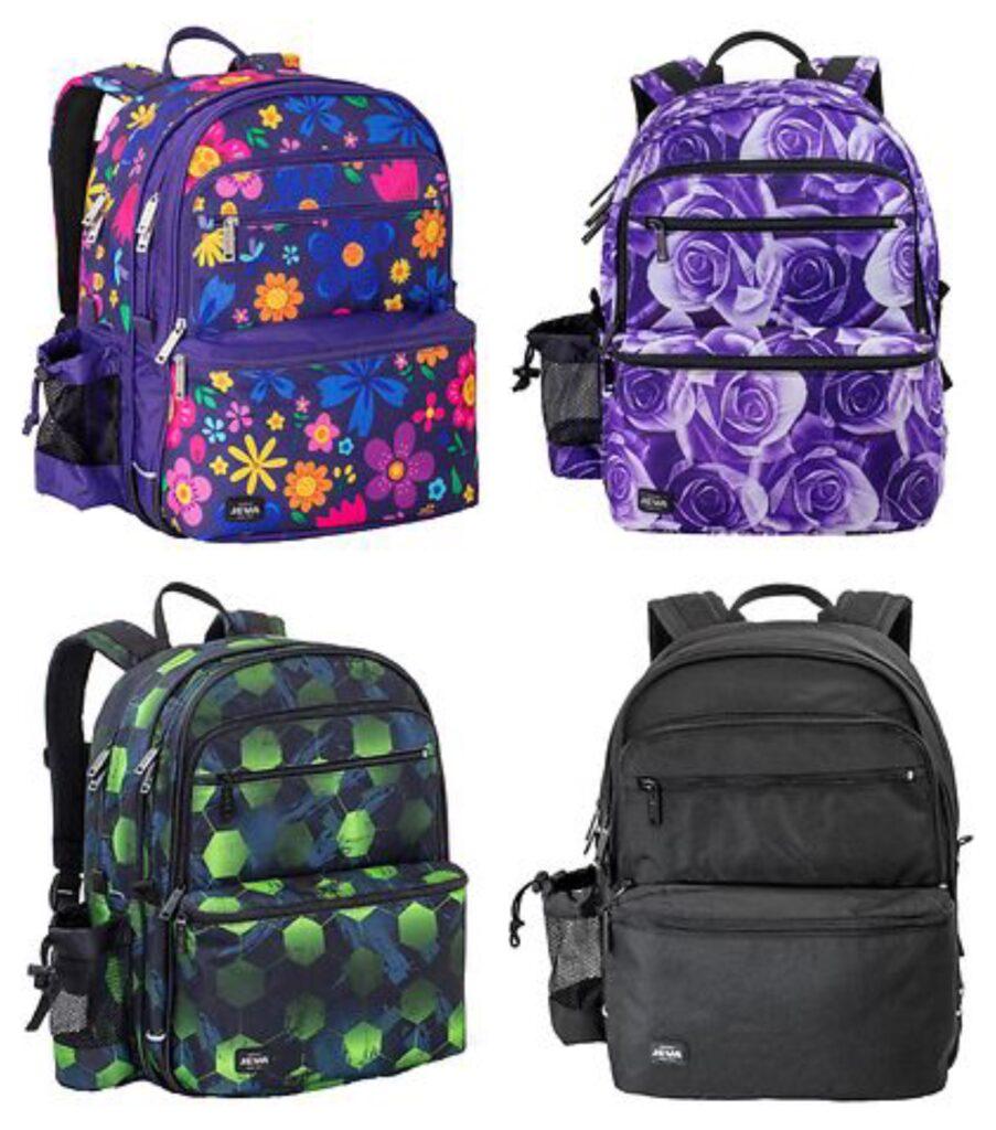 jeva skoletaske 2021, jeva skoletaske til større børn, jeva rygsæk til børn, jeva skoletasker 2021, klassisk skoletaske til børn, skoletaske med blomster, camouflage skoletaske