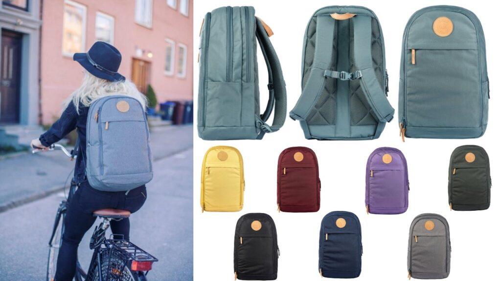 beckmann urban rygsæk til ung rygsæk til voksne skoletaske til voksne grå rygsæk læderstrop blå skoletaske til voksne altrnativ til fjällräven skoletaske
