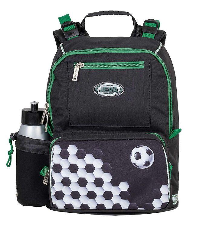 Fodbold skoletaske, skoletaske med fodbold, fodbold penalhus, klar til skolestart