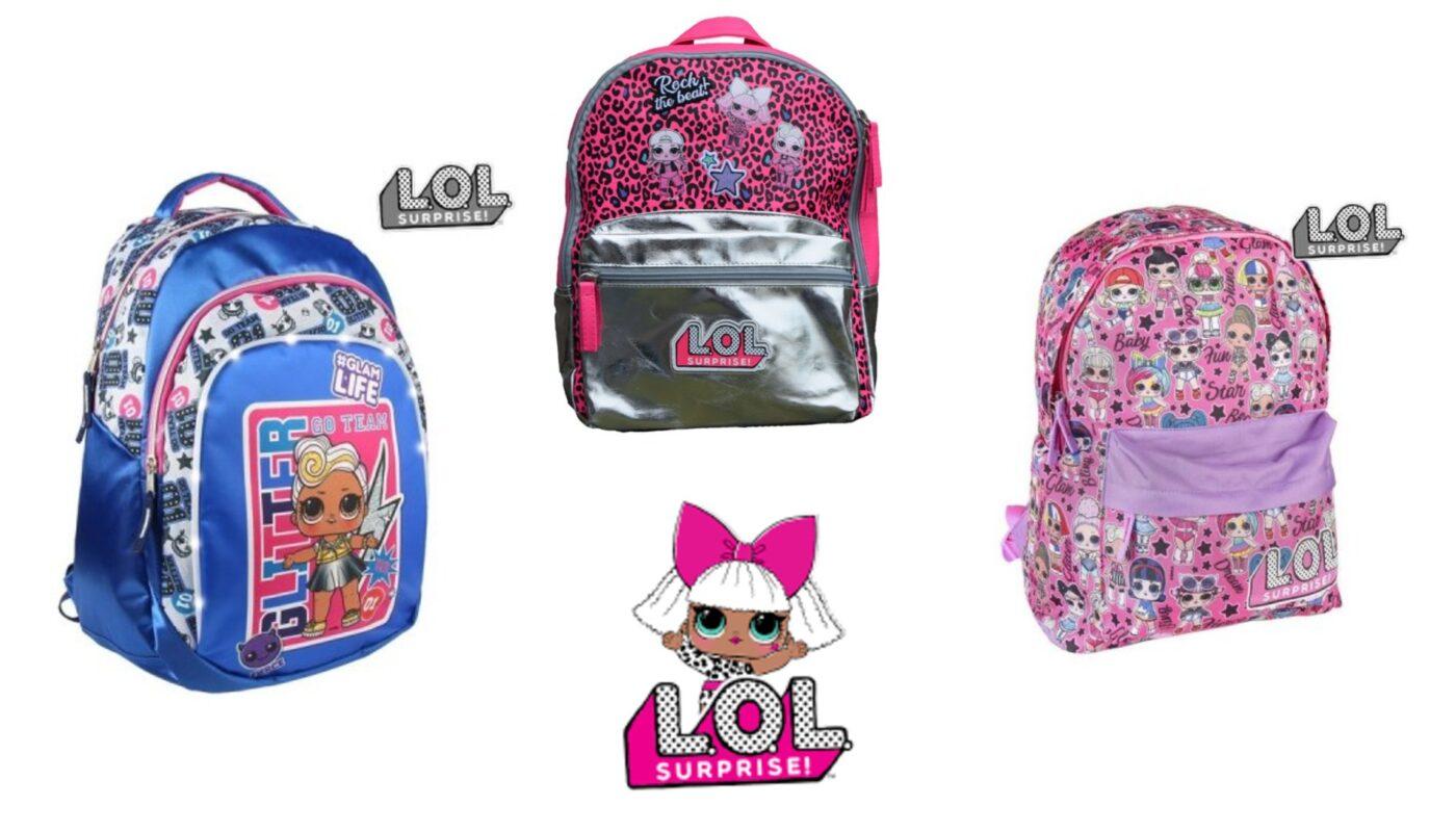 LOL Surprise skoletaske og rygsæk, lol surprise skoletasker, skoletasker til piger, lol surprise rygsække, skoletasker til piger, pink skoletasker til piger, lol surprise gaveideer, lol surprise tasker