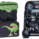 Skoletaske med dinosaur