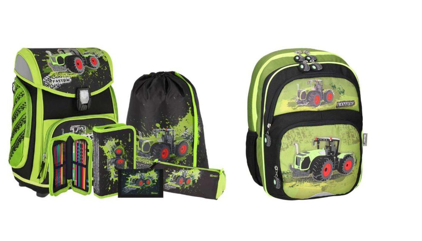 traktor skoletasker, skoletaske med traktor motiv, skoletasker til drenge 2021, grønne skoletasker, traktor skoletaskesæt